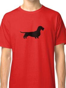 Wire Haired Dachshund Silhouette Classic T-Shirt