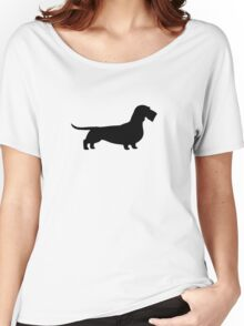 Wire Haired Dachshund Silhouette(s) Women's Relaxed Fit T-Shirt