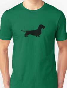 Wire Haired Dachshund Silhouette T-Shirt