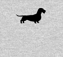 Wire Haired Dachshund Silhouette Unisex T-Shirt