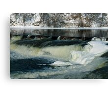 Winter water falls - Almonte, Ontario Canvas Print