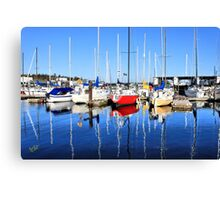 Marina Blue Reflection One Canvas Print