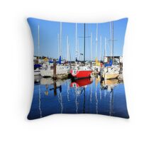Marina Blue Reflection One Throw Pillow