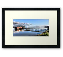 Coupeville Wharf with Boats Framed Print