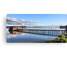 Coupeville Wharf with Boats Canvas Print