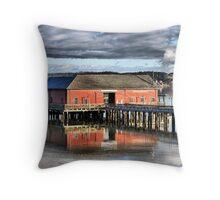 Coupeville Wharf Throw Pillow