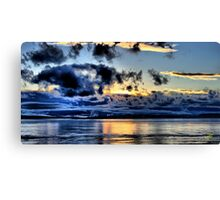 Olympic Sunset in January Canvas Print