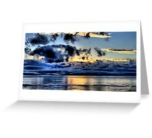Olympic Sunset in January Greeting Card