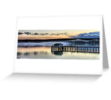 Sunset Pier Five Greeting Card