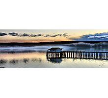 Sunset Pier Five Photographic Print