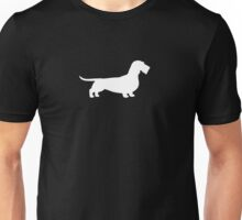 Wire Haired Dachshund White Silhouette(s) Unisex T-Shirt