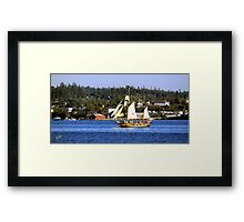 Tall Ships in Coupeville Framed Print