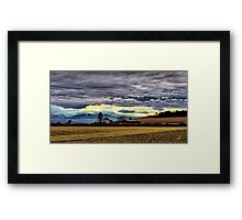 Ebey Prairie Sunset Framed Print