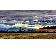 Ebey Prairie Sunset Photographic Print