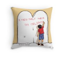 the missing commandment by elan Throw Pillow