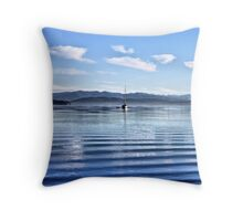 Upon the Gentle Waves Throw Pillow
