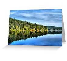 Pass Lake Fall Reflection Three Greeting Card