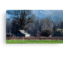 Skagit Barn Digital Painting Canvas Print