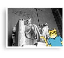 Claude Visits the Lincoln Memorial Canvas Print