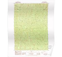 USGS Topo Map Oregon Elk Peak 279786 1985 24000 Poster