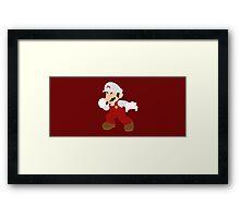 Mario (Fire) - Super Smash Bros. Framed Print