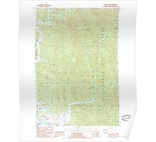USGS Topo Map Oregon Kilchis River 280404 1985 24000 Poster