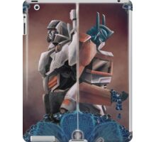 Optimus and Megatron and the Blue Flowers iPad Case/Skin