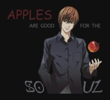 death note apples are good for the soul light ryuk anime manga shirt by ToDum2Lov3