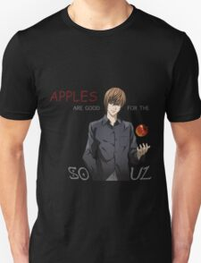 death note apples are good for the soul light ryuk anime manga shirt T-Shirt