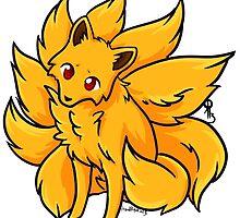 Kitsune Chibi Fox by Raythebishie