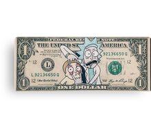 Rick and Morty Dollar Bill Canvas Print