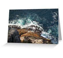 Waves crashing on the shore Greeting Card