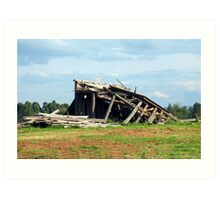 The Old Farm Shed....Fallen Art Print