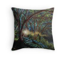 Nether Worlds: The Magic at Faery Bower Throw Pillow