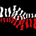 zebra woman doubling op-art style by alvaroc