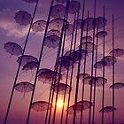 Flying umbrellas by Sandrita87