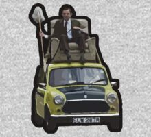 Mr Bean on his Mini by Justice115