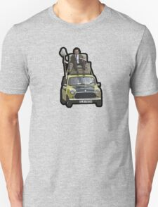 Mr Bean on his Mini Unisex T-Shirt