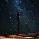 Microwave Repeater Lillimur Star Trail + Iridium Flare by Murray Wills
