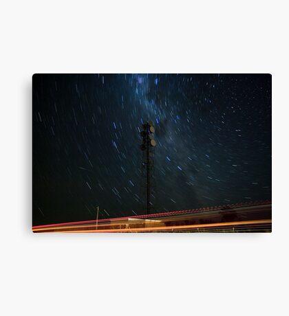 Microwave Repeater Lillimur Star Trail + Iridium Flare Canvas Print
