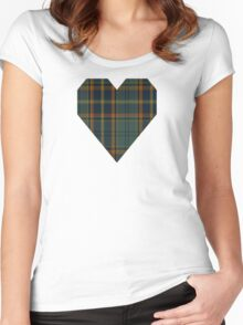 00299 Antrim County District Tartan  Women's Fitted Scoop T-Shirt