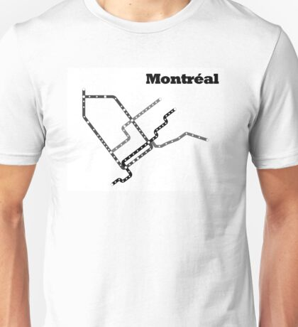 Montreal Subway Map Unisex T-Shirt