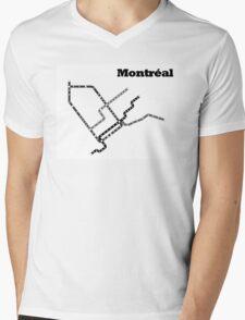Montreal Subway Map Mens V-Neck T-Shirt