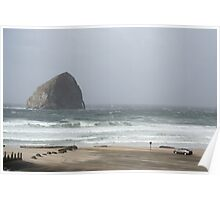 Pacific City Beach After Storm Poster