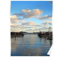 Boats in Peter Port Harbour - Guernsey Poster