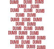 dumb dumb dumb Photographic Print