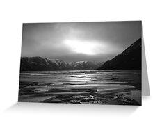 Icy Loch b&w Greeting Card