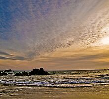 Golden Sunset at Petit Bot Beach, Guernsey by photosintheshed