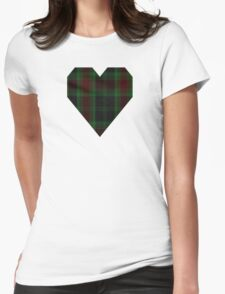 00302 Carlow County District Tartan  Womens Fitted T-Shirt