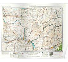 USGS Topo Map Washington Walla Walla 244506 1953 250000 Poster